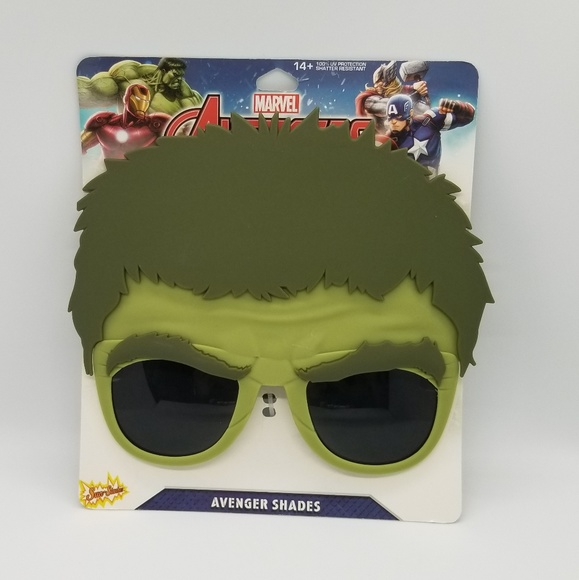03acb891c461 Hulk Sunglasses Mask  Marvel Comics Avengers. NWT. sunstaches